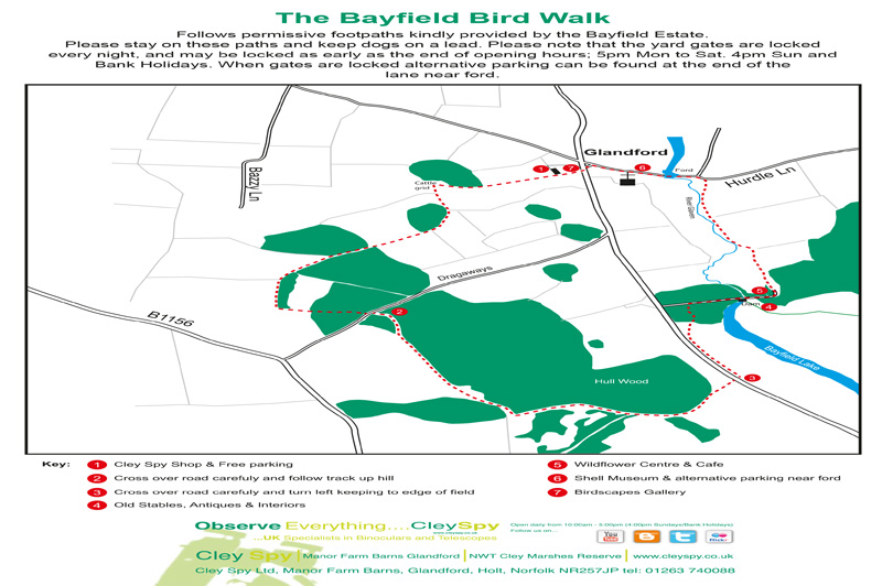 Bayfield Bird Walk Map